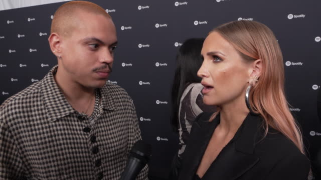ashlee simpson, evan ross at the spotify best new artist 2020 party at the lot studios on january 23, 2020 in los angeles, california. - spotify stock videos & royalty-free footage