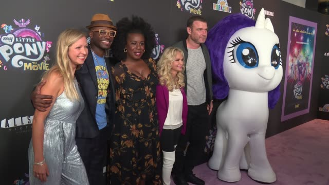 Ashleigh Ball Taye Diggs Uzo Aduba Kristin Chenoweth and Liev Schreiber at Lionsgate Presents The New York Special Screening Of My Little Pony at AMC...