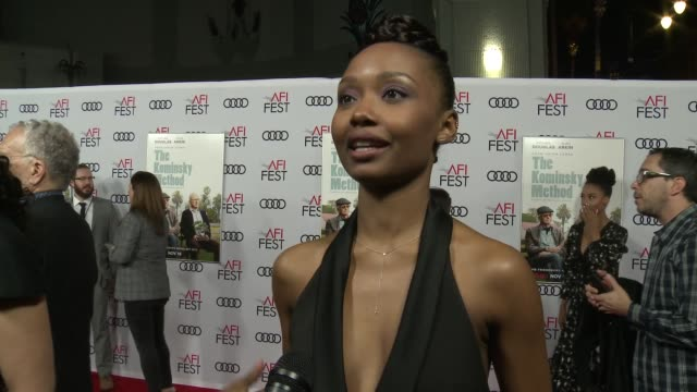 INTERVIEW Ashleigh LaThrop at A Netflix Original Series The Kominsky Method Los Angeles Premiere At AFI Fest at TCL Chinese Theatre on November 10...