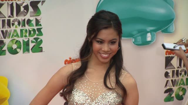 ashley argota at nickelodeon's 25th annual kids' choice awards on 3/31/2012 in los angeles, ca. - nickelodeon stock videos & royalty-free footage