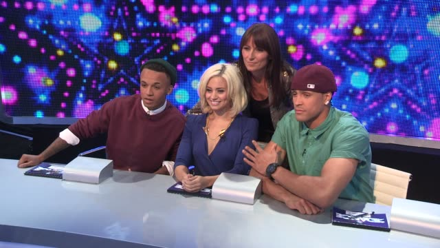 ashley banjo kimberley wyatt aston merrygold davina mccall at the launch of got to dance 4 at clapham common on september 17 2012 in london england - banjo stock videos & royalty-free footage