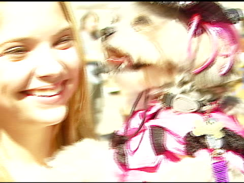 ashley benson at the dine with your dog day at the hyatt regency century plaza in century city, california on october 19, 2006. - hyatt regency stock videos & royalty-free footage