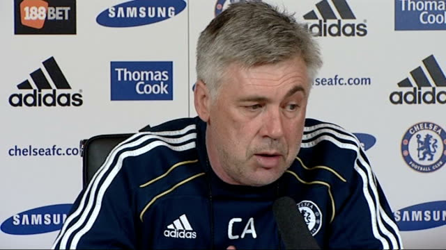 ashley cole air rifle incident; london: int carlo ancelotti press conference sot - we are disappointed/ he said sorry - it was an accident ext man... - hooved animal stock videos & royalty-free footage