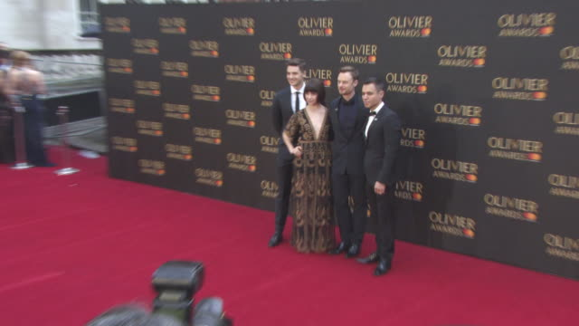 vídeos de stock e filmes b-roll de ashley day, leanne cope, christopher wheeldon, paul kay at the olivier awards with mastercard at royal albert hall on april 08, 2018 in london,... - paul kaye