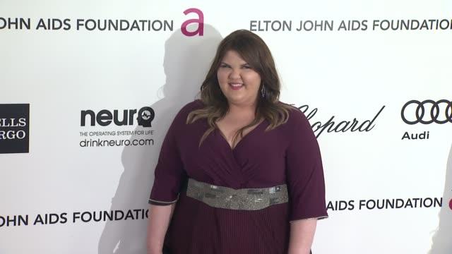 vídeos de stock e filmes b-roll de ashley fink at elton john aids foundation celebrates 20th annual academy awards viewing party on 2/26/12 in hollywood, ca. - festa do óscar
