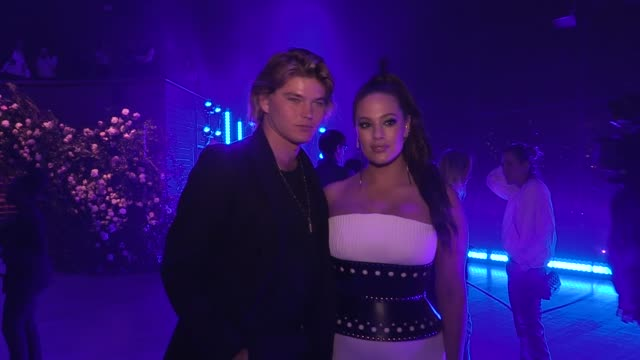 a455a8fa Ashley Graham and Jordan Barrett front row for the Brandon Maxwell Ready to  Wear Fall Winter