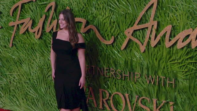 ashley graham at the fashion awards 2017 at royal albert hall on december 04 2017 in london england - royal albert hall stock videos & royalty-free footage