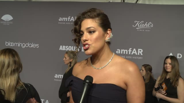 INTERVIEW Ashley Graham on why amfAR is so important at the 20th Annual amfAR Gala New York at Cipriani Wall Street on February 07 2018 in New York...
