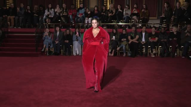 Ashley Graham Selma Blair Danielle Brooks their fellow models and designer on the runway for the Christian Siriano Ready to wear Fall Winter 2018...
