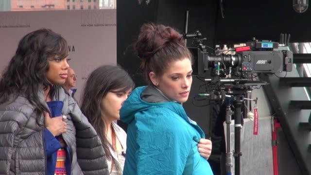 Ashley Greene and Tiffany Hines on location for 'Americana' Ashley Greene and Tiffany Hines on location for 'A on March 23 2012 in New York New York