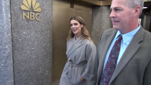 ashley greene leaving nbc studios on april 06 2016 in new york city - nbc stock videos & royalty-free footage