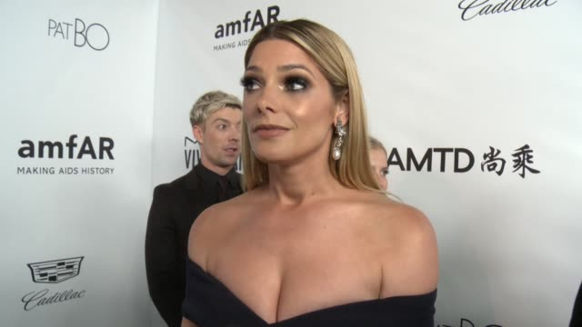 interview ashley greene on the event at amfar los angeles 2017 in los angeles ca - amfar stock videos & royalty-free footage