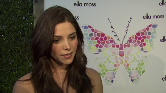 ashley greene on who she's wearing and why she selected the piece what she loves about ella moss how she's beating the heat this summer if she's... - last day stock videos & royalty-free footage