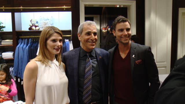 ashley greene tony thomas at brooks brothers celebrates the holidays with st jude children's research hospital and town country in los angeles ca - st. jude children's research hospital stock videos and b-roll footage
