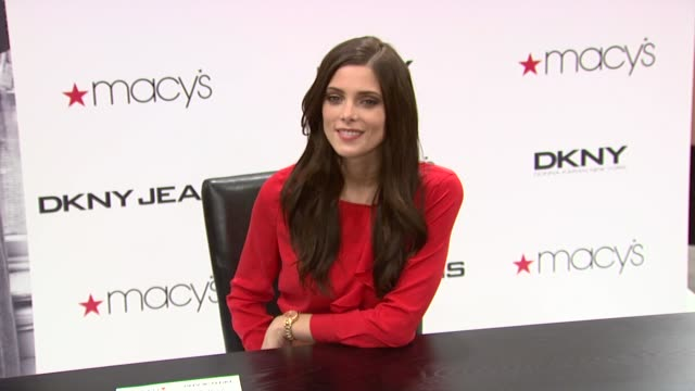 ashley greene twilight star instore appearance at macy's herald square on march 29 2012 in new york new york - macy's herald square stock videos and b-roll footage