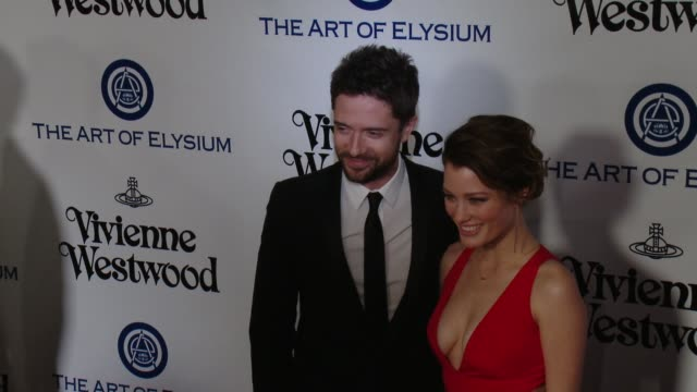 ashley hinshaw and topher grace at the the art of elysium's ninth annual heaven gala at 3labs on january 9, 2016 in culver city, california. - topher grace stock videos & royalty-free footage