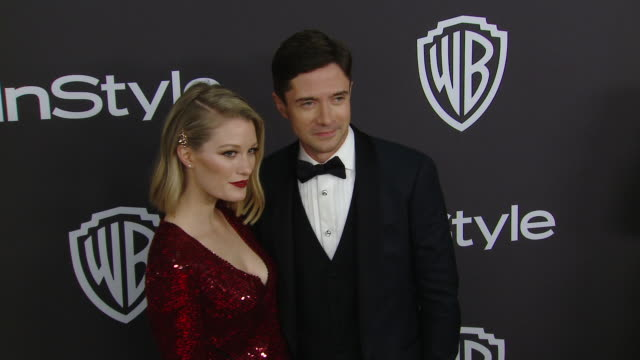 Ashley Hinshaw and Topher Grace at the Warner Bros and InStyle Host 20th Annual PostGolden Globes Party at The Beverly Hilton Hotel on January 6 2019...