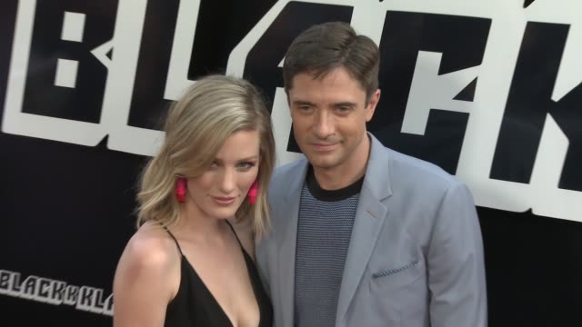 """ashley hinshaw topher grace at """"blackkklansman"""" los angeles premiere presented by focus features in los angeles ca - topher grace stock videos & royalty-free footage"""