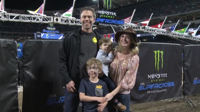 ashley jones at monster energy supercross celebrity night at angel stadium of anaheim on january 19, 2019 in anaheim, california. - angel stadium stock videos & royalty-free footage
