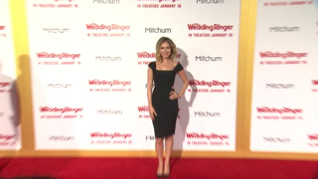 stockvideo's en b-roll-footage met ashley jones at the wedding ringer los angeles premiere at tcl chinese theatre on january 06 2015 in hollywood california - tcl chinese theatre