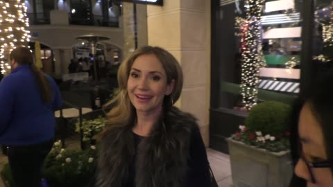 ashley jones attends the tot holiday pop-up celebration at laduree at the grove in los angeles in celebrity sightings in los angeles, - the grove los angeles stock videos & royalty-free footage