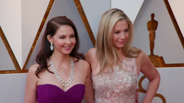 Ashley Judd and Mira Sorvino at the 90th Academy Awards Arrivals at Dolby Theatre on March 04 2018 in Hollywood California