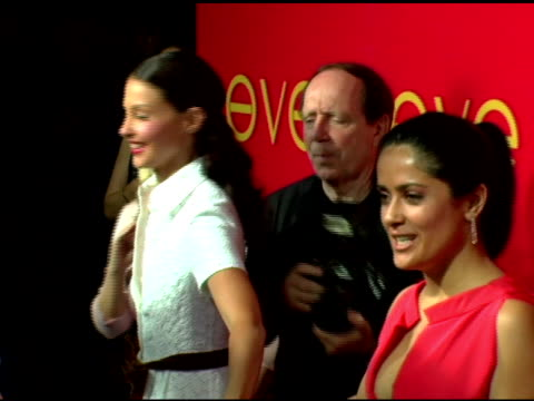 Ashley Judd and Salma Hayek at the Cartier and Interview Magazine Celebration of Love at the Cartier Mansion in New York New York on June 8 2006