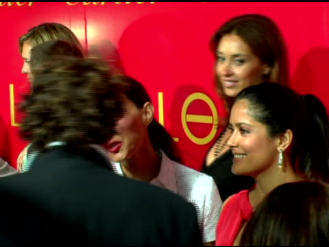 ashley judd and salma hayek at the cartier and interview magazine celebration of love at the cartier mansion in new york new york on june 8 2006 - salma hayek stock videos and b-roll footage