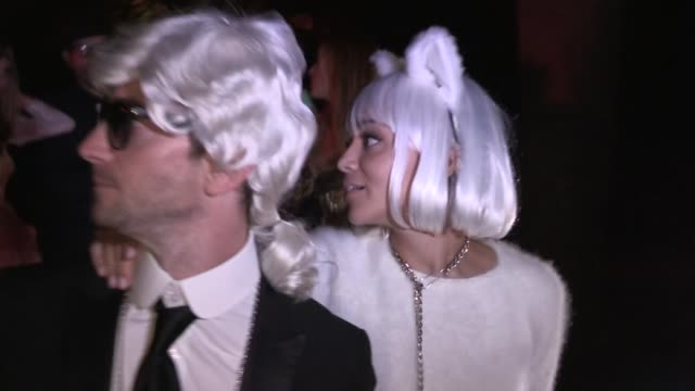 Ashley Madekwe Iddo Goldberg as Karl Lagerfeld Choupette departing Casamigos Halloween Party in Beverly Hills Celebrity Sightings in Los Angeles CA...