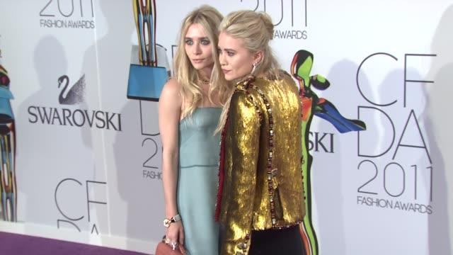 Ashley Olsen and MaryKate Olsen at the The 2011 CFDA Fashion Awards at New York NY