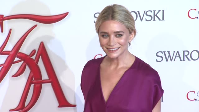 ashley olsen at 2012 cfda fashion awards arrivals on in new york - 2012 stock videos & royalty-free footage