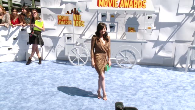 Ashley Rickard at the 2015 MTV Movie Awards at Nokia Theatre LA Live on April 12 2015 in Los Angeles California