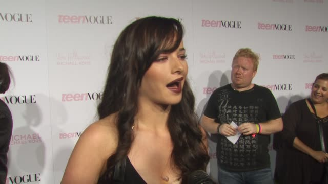 Ashley Rickards on what brought her to the event what she thinks about being celebrated as part of Young Hollywood what she likes most inside Teen...