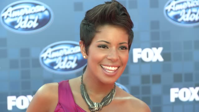 ashley rodriguez at the fox's 'american idol 2011' finale results show at los angeles ca - results show stock videos & royalty-free footage