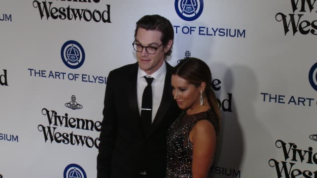 ashley tisdale and christopher french at the the art of elysium's ninth annual heaven gala at 3labs on january 9 2016 in culver city california - ashley tisdale stock videos and b-roll footage