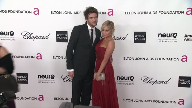 ashley tisdale at elton john aids foundation celebrates 20th annual academy awards viewing party on 2/26/12 in hollywood ca - ashley tisdale stock videos and b-roll footage