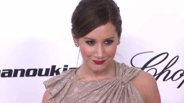 ashley tisdale at the 19th annual elton john aids foundation academy awards viewing party part 2 at west hollywood ca - ashley tisdale stock videos and b-roll footage