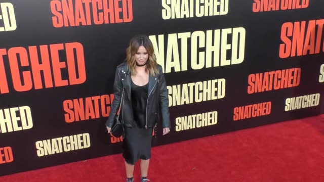 ashley tisdale at the premiere of 20th century fox's 'snatched' - arrivals on may 10, 2017 in westwood, california. - ウエストウッドヴィレッジ点の映像素材/bロール