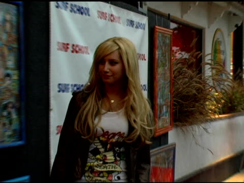 ashley tisdale at the 'surf school' premiere at the westwood crest theater in westwood califonia on may 16 2006 - ashley tisdale stock videos and b-roll footage