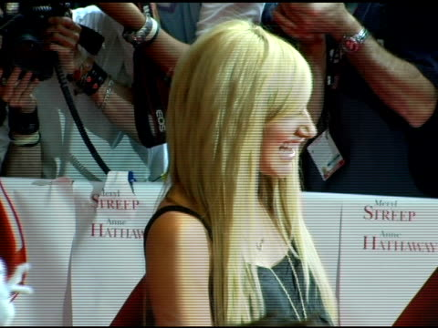 ashley tisdale at the 'the devil wears prada' new york premiere at amc loews lincoln square in new york new york on june 19 2006 - the devil wears prada film title stock videos and b-roll footage