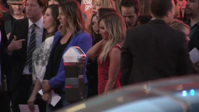 ashley tisdale christopher french arrive at the spring breakers premiere at the arclight in hollywood 03/14/13 - ashley tisdale stock videos and b-roll footage