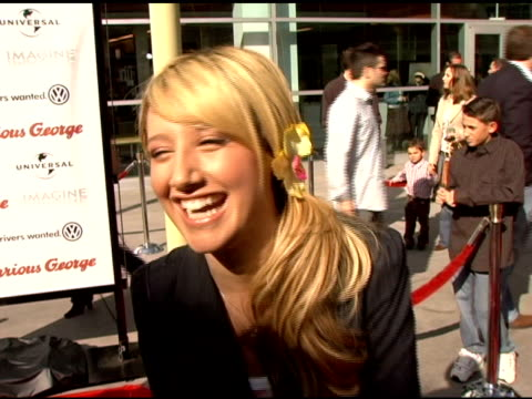 ashley tisdale on curious george and 2d animation at the 'curious george' premiere on january 28 2006 - ashley tisdale stock videos and b-roll footage