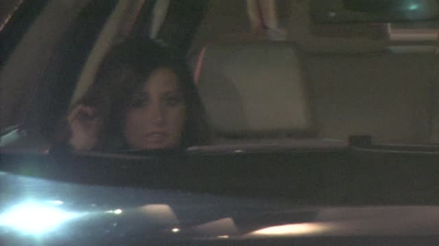 ashley tisdale scott speer leaving the roosevelt hotel in hollywood at the celebrity sightings in los angeles at los angeles ca - ashley tisdale stock videos and b-roll footage
