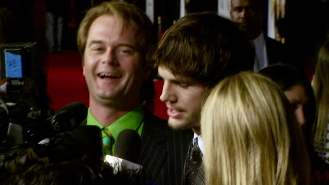 ashton kutcher and cameron diaz at the 'what happens in vegas' premiere at the mann village theatre in westwood california on may 1 2008 - ashton kutcher stock videos and b-roll footage