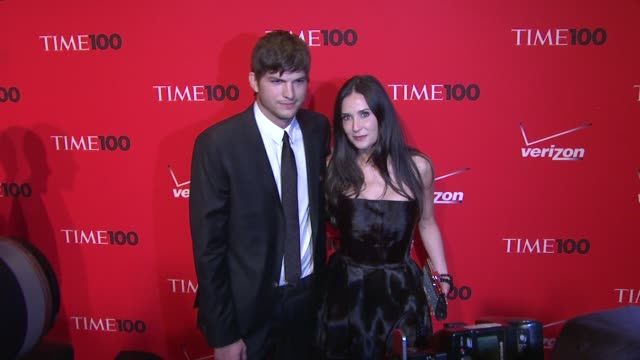 ashton kutcher and demi moore at the 2010 time 100 gala at new york ny. - ashton kutcher stock videos & royalty-free footage