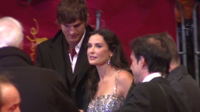ashton kutcher and demi moore at the 59th berlin film festival happy tears red carpet premiere at berlin - ashton kutcher stock videos and b-roll footage