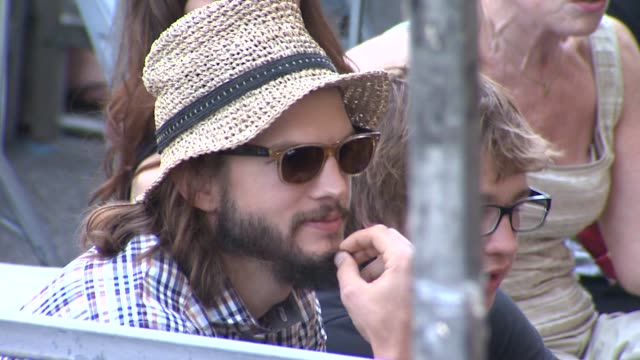 ashton kutcher angus t jones at the jon cryer honored with star on the hollywood walk of fame at hollywood ca - ashton kutcher stock videos and b-roll footage