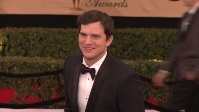 ashton kutcher at 23rd annual screen actors guild awards - arrivals in los angeles, ca 1/29/17 - ashton kutcher stock videos & royalty-free footage