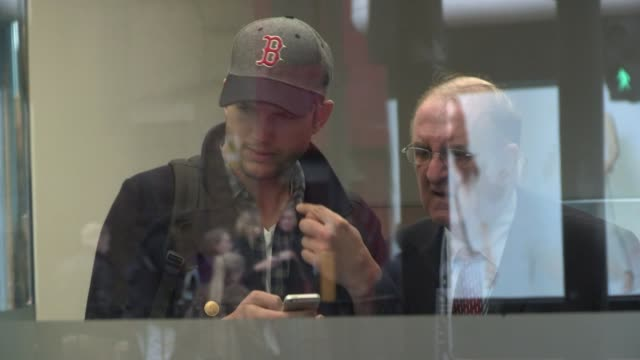 ashton kutcher at celebrity video sightings on april 12, 2013 in london, england - ashton kutcher stock videos & royalty-free footage