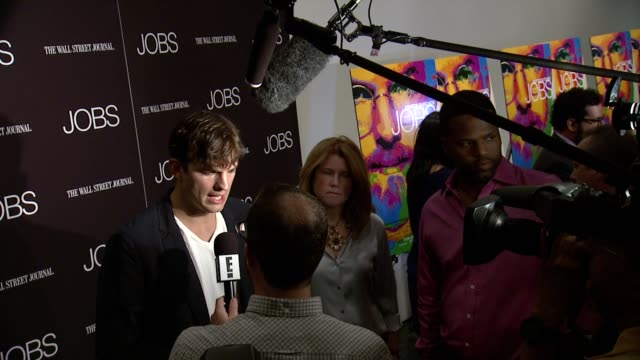 ashton kutcher at jobs new york premiere arrivals at moma on august 07 2013 in new york new york - ashton kutcher stock videos and b-roll footage
